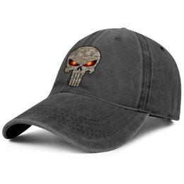 $enCountryForm.capitalKeyWord UK - Womens Mens Flat-along Adjustable camo punisher skull Hip Hop Cotton Snapback Cap Golf Bucket Hats Cadet Army Caps Airy Mesh Hats For Men Wo