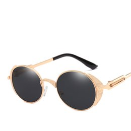 wholesale trending products Australia - 2018 trending products matal frame round rose gold gothic sunglasse high quality women men mirror oculos de sol feminino uv400