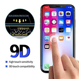 $enCountryForm.capitalKeyWord Australia - 9D Full Curved Glass for iPhone XS MAX XR XS Full Glue Screen Protector Tempered Glass without package (BLACK)