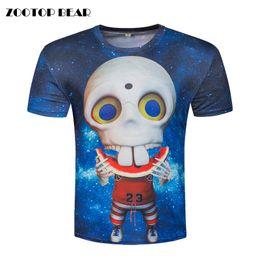 $enCountryForm.capitalKeyWord Australia - Funny 3D Top Men Skull Printed cartoon T-shirt Galaxy T shirt Character Camisetas Casual Short Sleeve Tee Harajuku