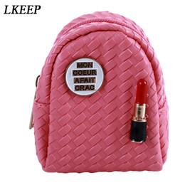 Lipstick For Black Women Australia - Fashion Mini Coin Purses Lipstick Coin Bag Multifunction Portable Zipper Small Bags Chain Keychain Women Bags Purse For Coins