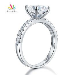 $enCountryForm.capitalKeyWord UK - Peacock Star 925 Sterling Silver Bridal Anniversary Engagement Ring 2 Carat Jewelry Cfr8212 J 190515