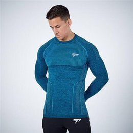 $enCountryForm.capitalKeyWord Australia - New Design Mens Gym T Shirts With O-Neck Casual Long Sleeve T-Shirt For Male Tight Quick Dry Fitness bodybuilding T-Shirts