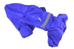 $enCountryForm.capitalKeyWord UK - 10PCS LOT Fashion Pet Reflective Strip Raincoat Dog Vest Dog Polyester Waterproof Rain Poncho Pet Dog Rain Jacket 3XL 4XL 5XL