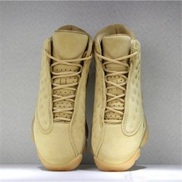 classic leather golf shoes UK - Hot 13 XIII Wheat Yellow Basketball Shoes Classic Mens 13s High Quality Outdoor Sports Sneakers Size US7-12