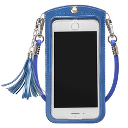 cross body phone case Australia - Cross-body Neck Strap Lanyard Mobile Phone Shoulder Bag Pouch cell phone Case Handbag Purse Coin Wallet for iphone se