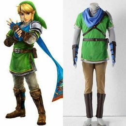 movie quality cosplay costumes Australia - The Legend of Zelda Link Hyrule-Warriors Cosplay Costume Top Quality Costume