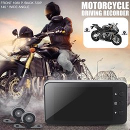 hidden card Australia - Motorcycle Driving Recorder 1080P Locomotive Recorder Front And Rear Double Lens Double Recording Hidden Wholesale Purchasing car dvr