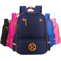 $enCountryForm.capitalKeyWord UK - Student Cartoon School Bag Back To School Boys Girls Letter Stitching Zipper Backpack Kids Custom Printed Logo Ridge Leisure Travel Bag