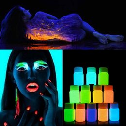 $enCountryForm.capitalKeyWord Australia - NEW 20ml UV Glow Neon Face Body Paint Fluorescent Bright Fluo Irradiate luminescent Party Festival Decoration Party Makeup