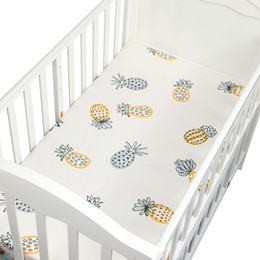 infant baby sheet Australia - 105*60cm 100% Cotton Crib Fitted Sheets Soft Baby Bed Mattress Covers Printed Newborn Infant Bedding Set Kids Mini Cot Sheet