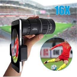 Universal lens holder online shopping - 16x52 Zoom Hiking Monocular Telescope Lens Camera Scope Hunting Holder Tripod Used by Phone