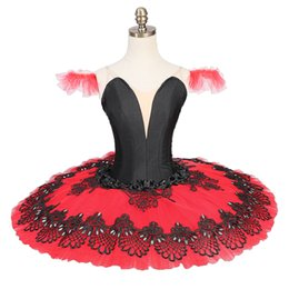 $enCountryForm.capitalKeyWord NZ - Adult Black Red Paquita La Esmeralda Competiton Women Costume Girls Kid Professional Ballet Tutu Platter Adult Classical Black White Pancake