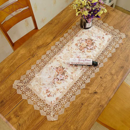 cloth free tv 2019 - Free Ship Flower Printing Jacquard TV Cabinet Home Wedding Decoration Table Cover Towel Dinning Table Mat Cloth Runner d