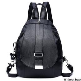 $enCountryForm.capitalKeyWord NZ - Women Backpack Solid Bag Shopping School Style Shoulder Bag Hangbag Detachable Buckle Casual Travel Adjustable Strap PU 2 Colors