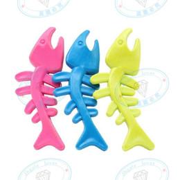 $enCountryForm.capitalKeyWord Australia - Resistant Bite TPR Pet Dog Chew Toys Colorful Fish Bone Chew Toy for Puppy Dog Cat GBN-135