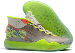 kd elite shoes size men 2019 - 2019 Hot Mvp Kevin Durant KD 12 Anniversary University 12S XII Oreo Men Basketball Shoes USA Elite KD12 Sport Sneakers S