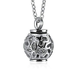 Steel Lanterns Australia - Cremation Jewelry for Ashes Memorial Urn Pendant Necklace Stainless Steel Cylinder Lantern Pendant Cremation Keepsake Jewelry