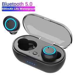 bluetooth hd headphones wireless Australia - D10 DT2 TWS Bluetooth Earphones Fingerprint Touch Wireless Earbuds HD Stereo Wireless Headphones Noise Cancelling Gaming Headset