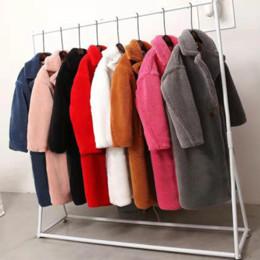 Wholesale xxl ladies winter coats for sale – winter 2019 Winter Oversized Long Pink Teddy Coats Women Thick Faux Fur Teddy Jackets Ladies Warm XS XXL Leopard Fur Coats cwf0183 T200104