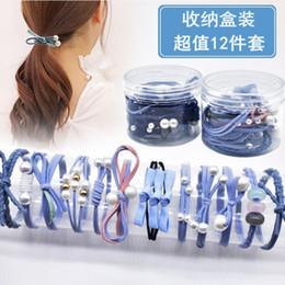 Gum Hair Australia - 12Pcs set Geometric Elastic Rubber Hairbands For Women Ponytail Holder Tie Gums Ornament Girls Hair Accessories 2019