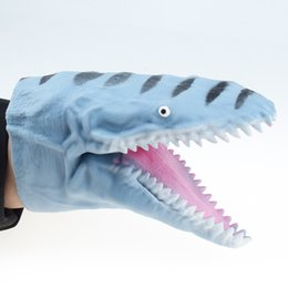 $enCountryForm.capitalKeyWord Australia - Soft Flatfoot-billed Dragon fish Doll Hand Puppet Animal Head Tyrannosaurus Rex Hand Puppet Glove Children's Toy Model Gift