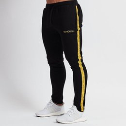 Wholesale Mens Jersey NZ - 2019 New Mens Joggers Casual Pants Fitness Men Sportswear Tracksuit Bottoms Skinny Sweatpants Trousers Gyms Workout Track Pants