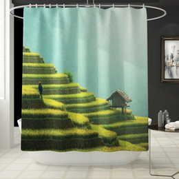 Home & Garden 2019 Latest Design 3d Christmas Deer 79 Shower Curtain Waterproof Fiber Bathroom Windows Toilet Shower Curtains