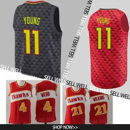 Young logo online shopping - 11 Young jersey Atlanta Basketball Jerseys Hawks Embroidery Logos Basketball Stitched Jersey