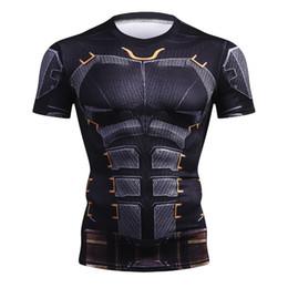 $enCountryForm.capitalKeyWord Australia - New Summer Marvel Superhero T-Shirt 3D Superman Spiderman Batman Black Panther Men T Shirt Short Sleeve Compression Crossfit Tee
