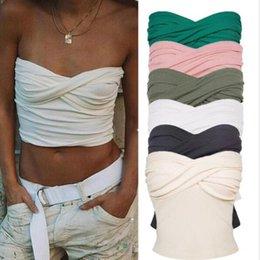 $enCountryForm.capitalKeyWord Australia - Aprmhisy Summer Strapless 90s Cool Girls Crop Top Women Elastic Slim Female Camis Streetwear Elastic Short Tank Tops