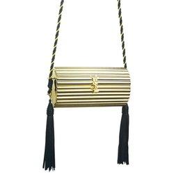 Ingrosso Borsa a tracolla in oro con pochette per donna nappe sexy in oro nero da donna con frange YH121 da sera e mini clutch # 33696