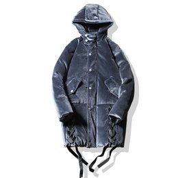 $enCountryForm.capitalKeyWord Australia - Casual Loose Long Thicken Coat 2018 New Winter Jacket Men Flannel Jacket Overcoat Male Street Fashion Hip Hop Hooded Parkas