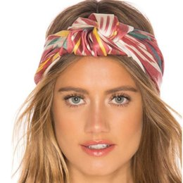 boho hair wraps Australia - HOT Boho Style Women Turban Twist Knot Head Wrap Headband Stripe Twisted Knotted Hairband Hair Accessories for Women Bandanas