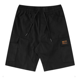 $enCountryForm.capitalKeyWord UK - 2019 Summer New Fashion Mens Solid Color Pants Men Casual Sport Shorts Mens Designer Pants Black Khaki Drawstring Shorts