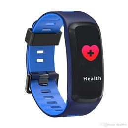 $enCountryForm.capitalKeyWord Australia - F4 Smart Bracelet Watch Band Color Screen fitness tracker Blood Pressure Heart Rate Monitor Thermometer Pedometer Wristband for Android IOS