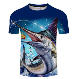 Quick Dry Shirts For Men Australia - NRAHBSQT Outdoor Men 3D Printed Fishing T-shirt Quick Dry Short Sleeves Sport Shirt For Men Fishing Clothing FC014