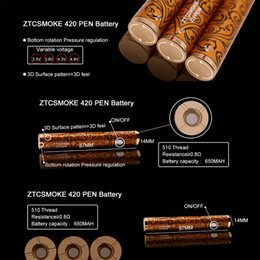 $enCountryForm.capitalKeyWord Australia - 420 Pen Battery 650mah 3D Surface Pattern Adjustable Variable Voltage 3.3V to 4.8V Preheat Battery Vape For Thick Oil Cartridge