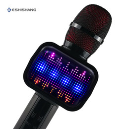 $enCountryForm.capitalKeyWord Australia - Karaoke Microphone with disco light Wireless Mikrofon Karaoke Machine Bluetooth Speaker Home KTV Music Player Handheld Mic