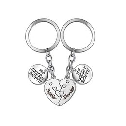 Wholesale Keychain Broken Heart Key Chain No Matter Where Mother Daughter Pendants Keyring Jewelry Gift For Women