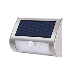 Wholesale Decking Lights UK - LED Solar Night Light Wireless Motion Sensor with 270° Wide Angle Waterproof Easy Install Security Lights for Front Door Yard Garage Deck