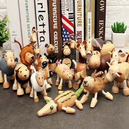 $enCountryForm.capitalKeyWord Australia - 3D Wooden Figures Simulation Wild Animal Model Doll Handmade Ornaments figurine Horse Cattle Lion Toy for Children Gift