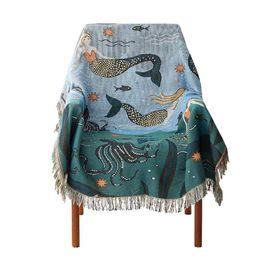 $enCountryForm.capitalKeyWord UK - Mermaid sofa Towel Blanket for Couch Sofa Decorative Slipcover Throws Plaid Rectangular Stitching Travel Plane Blanket