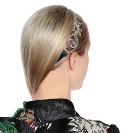 white hair brooch Australia - 2019 European and American foreign trade jewelry letters flash diamond satin headband hair accessories personality exaggerated headdress fem