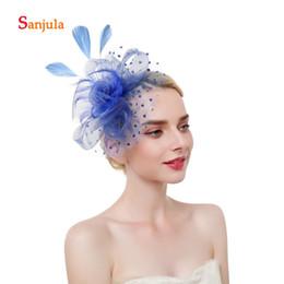 $enCountryForm.capitalKeyWord Australia - Tulle Flowers Hats with Dot Tulle Wedding Hats 2019 Fashionable Hair Accessories Feathers Women Fascinators birdcage