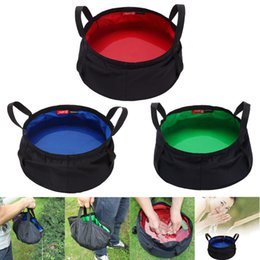 survival tool pack Canada - 2019 8.5L Portable Collapsible Outdoor Wash Camping Folding Basin Bucket Camping Safety Survival Tool Water Bag #YL5