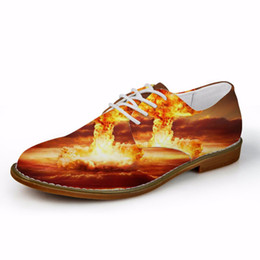 $enCountryForm.capitalKeyWord Australia - Customized 3D Fashion Flame Printing Oxfords Shoes for Men Casual Flats Fashion Men's Leather Shoes Man Synthetic Dress