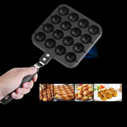 ceramic balls Australia - Professional Takoyaki Grill Pan Octopus Ball Maker Machine With 16 Holes Home Cooking Baking Tools Kitchen Accessories