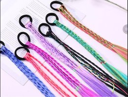 rubber hair wigs Australia - 20 color New Kids Girls Colorful Wigs Ponytail Holder Hair Ornament Headbands Beauty Hair Rubber Bands Headwear Kids Hair Accessories