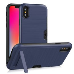 $enCountryForm.capitalKeyWord Australia - Shockproof Case for IphoneX XR Case Hard PC Stand Card Slot TPU Soft Protective Bumper Rubber Cover Samsung IphoneXs Xs Max